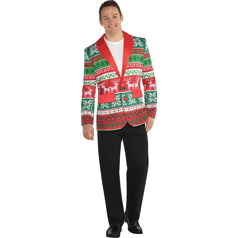 Christmas Sweater Suit.Adult Ugly Christmas Suit Jacket