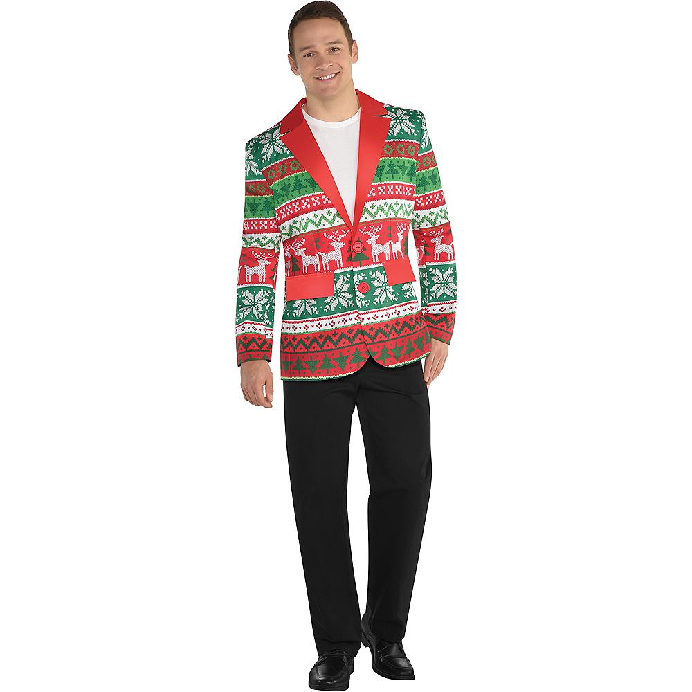 Adult Ugly Christmas Suit Jacket Image #1