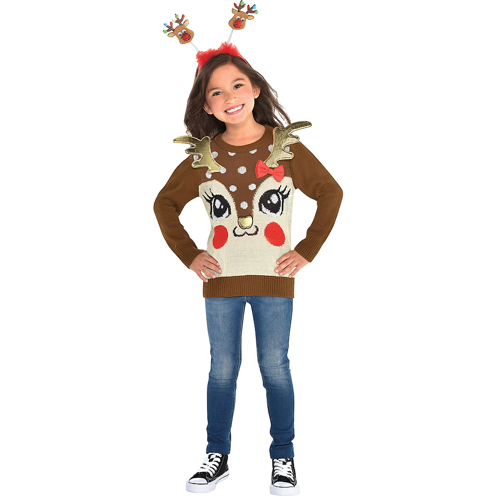 Child Reindeer Ugly Christmas Sweater Image #1