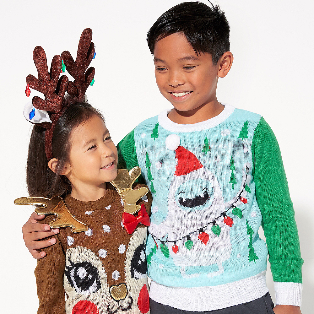 Child Reindeer Ugly Christmas Sweater Image #2