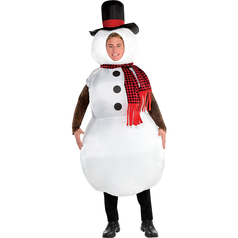 Adult Inflatable Snowman Costume Image #1