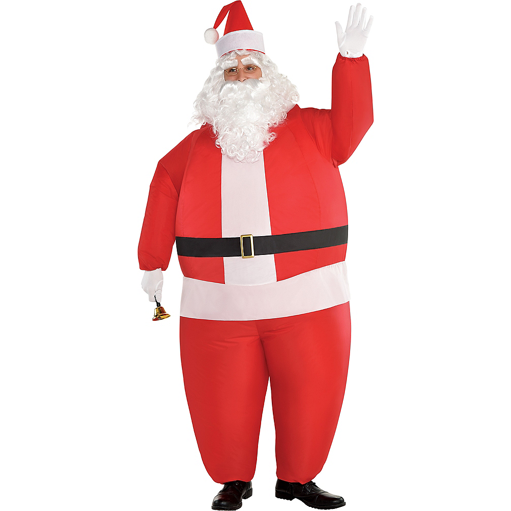 Nav Item for Adult Inflatable Santa Costume Image #1