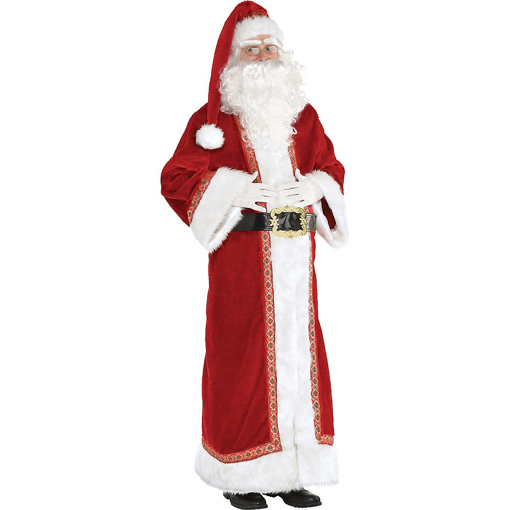 Adult Father Christmas Santa Costume Image #1