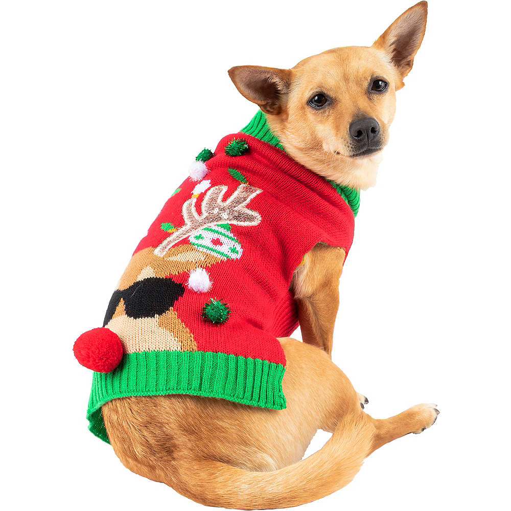 Reindeer Dog Sweater Image #1