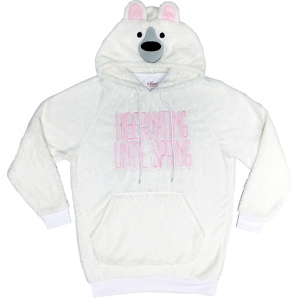 Nav Item for Fuzzy Polar Bear Hoodie Image #1