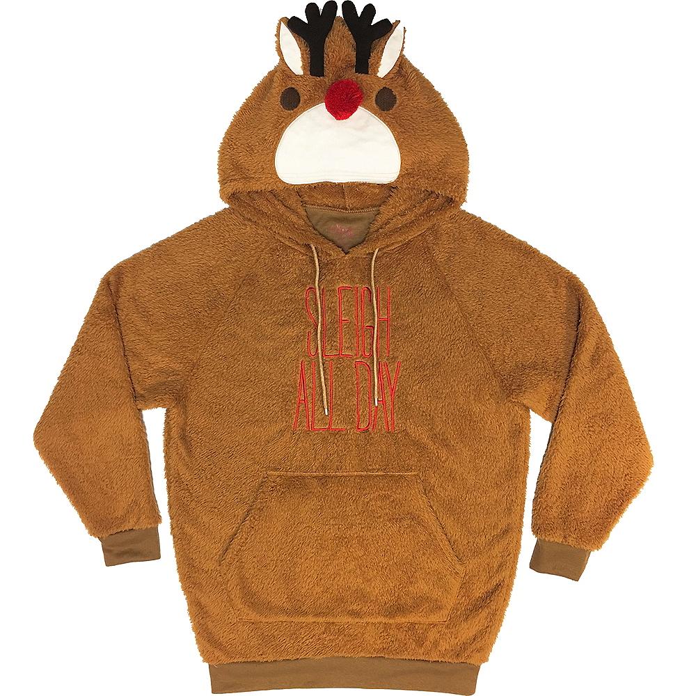 Fuzzy Reindeer Hoodie Image #1