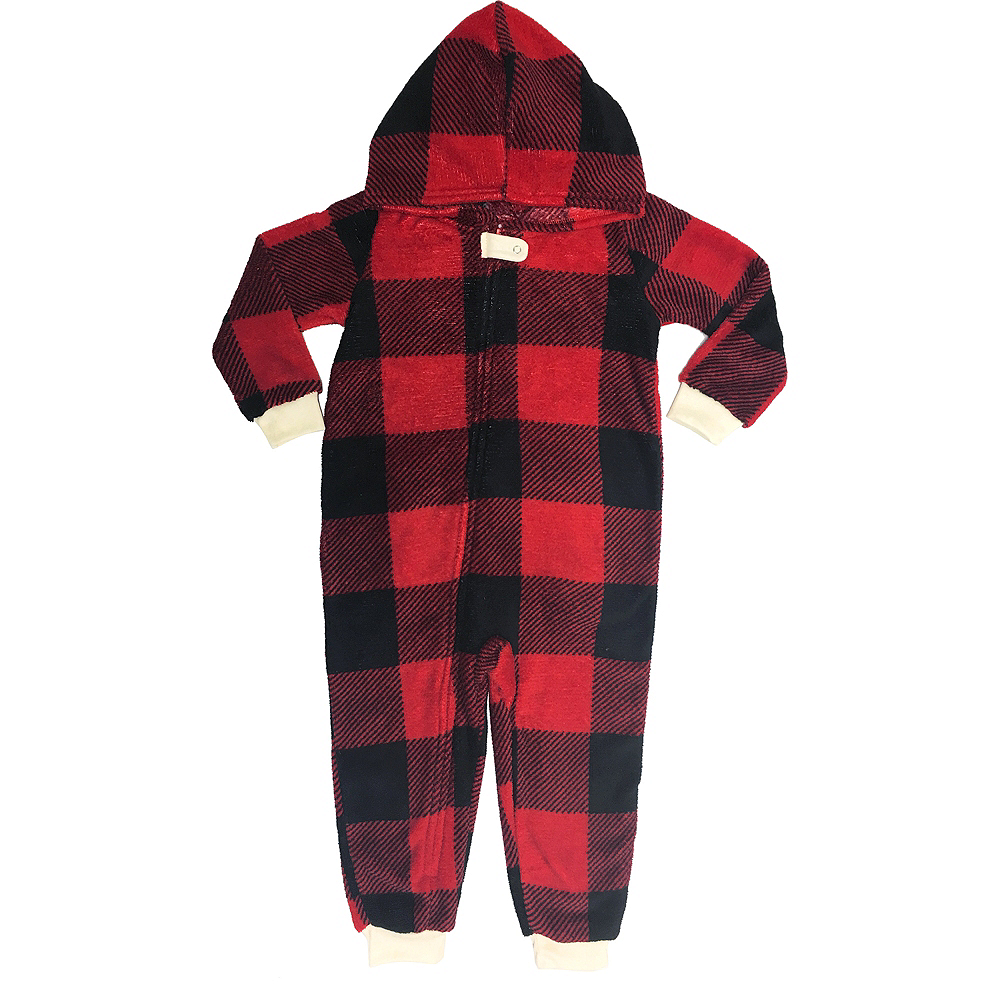 Toddler Zipster Buffalo Plaid Always Believe One Piece Pajamas Image #2