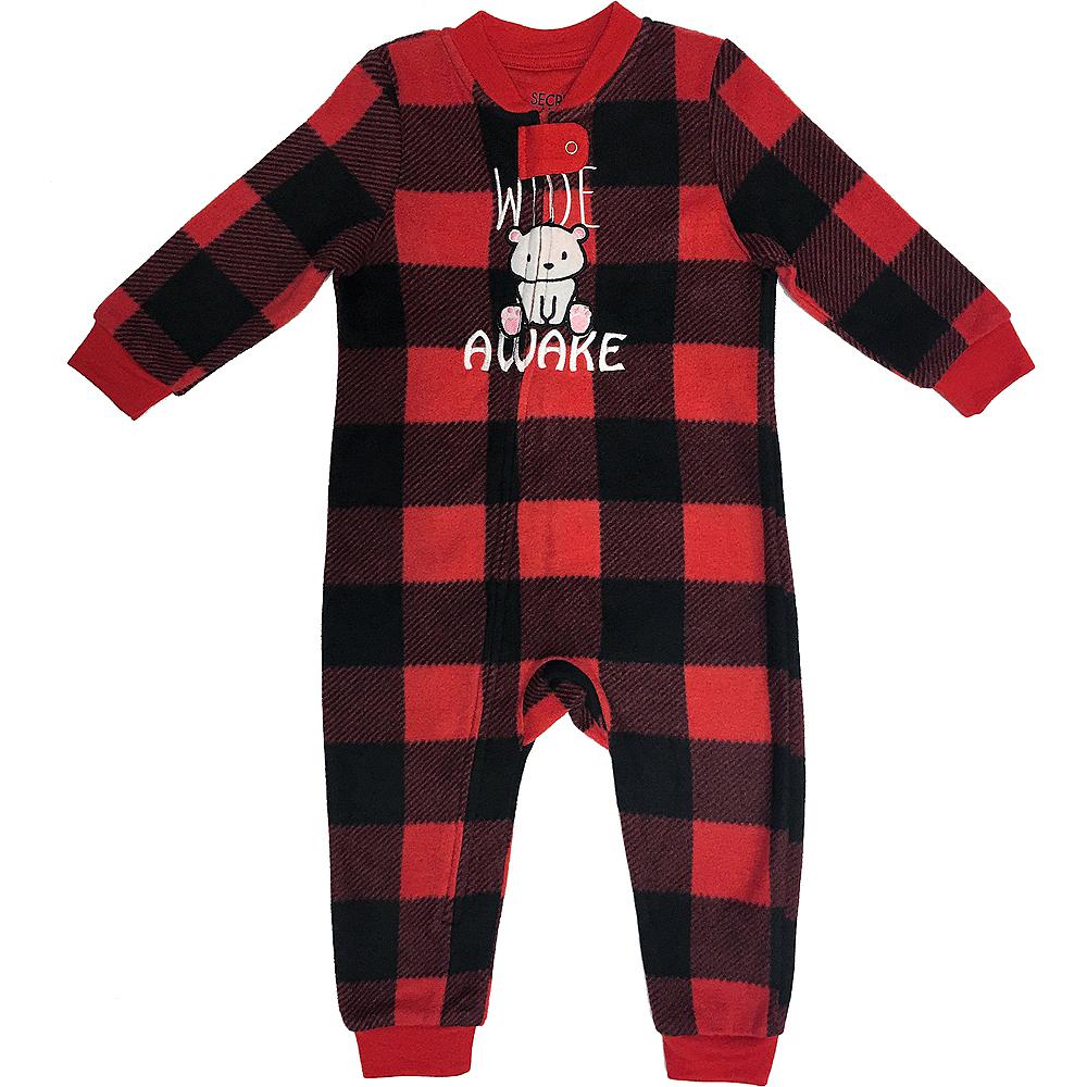 Baby Zipster Buffalo Plaid Wide Awake One Piece Pajamas Image #1