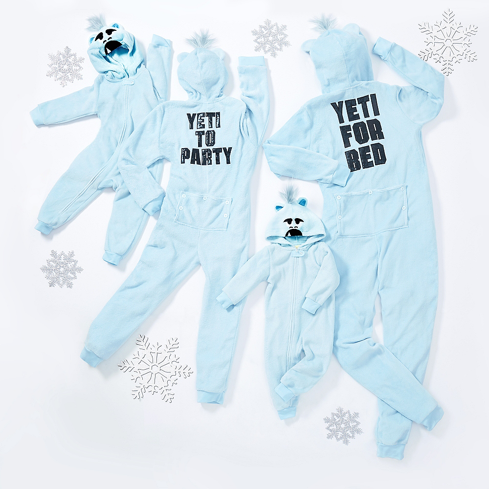 Child Zipster Yeti for Bed One Piece Pajamas Image #3