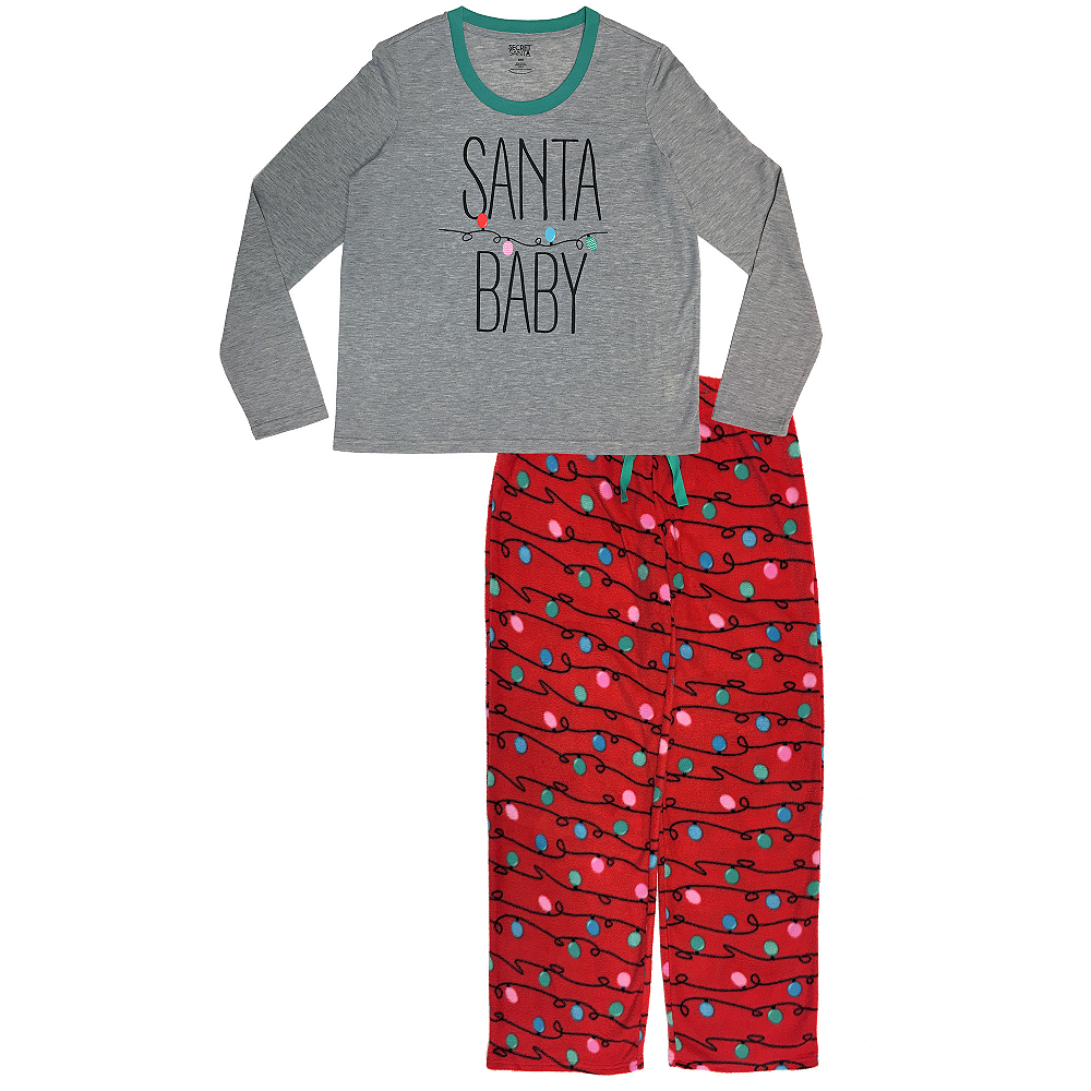 Nav Item for Women's Santa Baby Pajamas Image #1