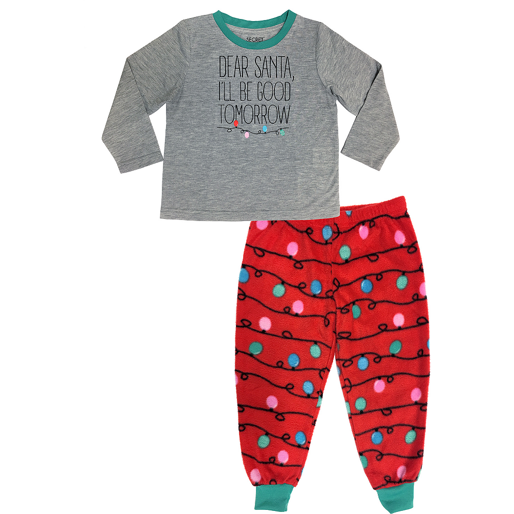 Toddler Dear Santa Pajamas Image #1