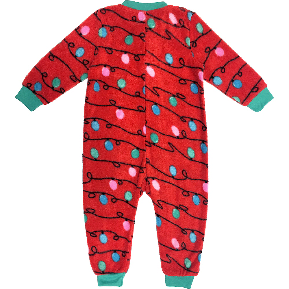 Baby Zipster Christmas Lights One Piece Pajamas Image #2