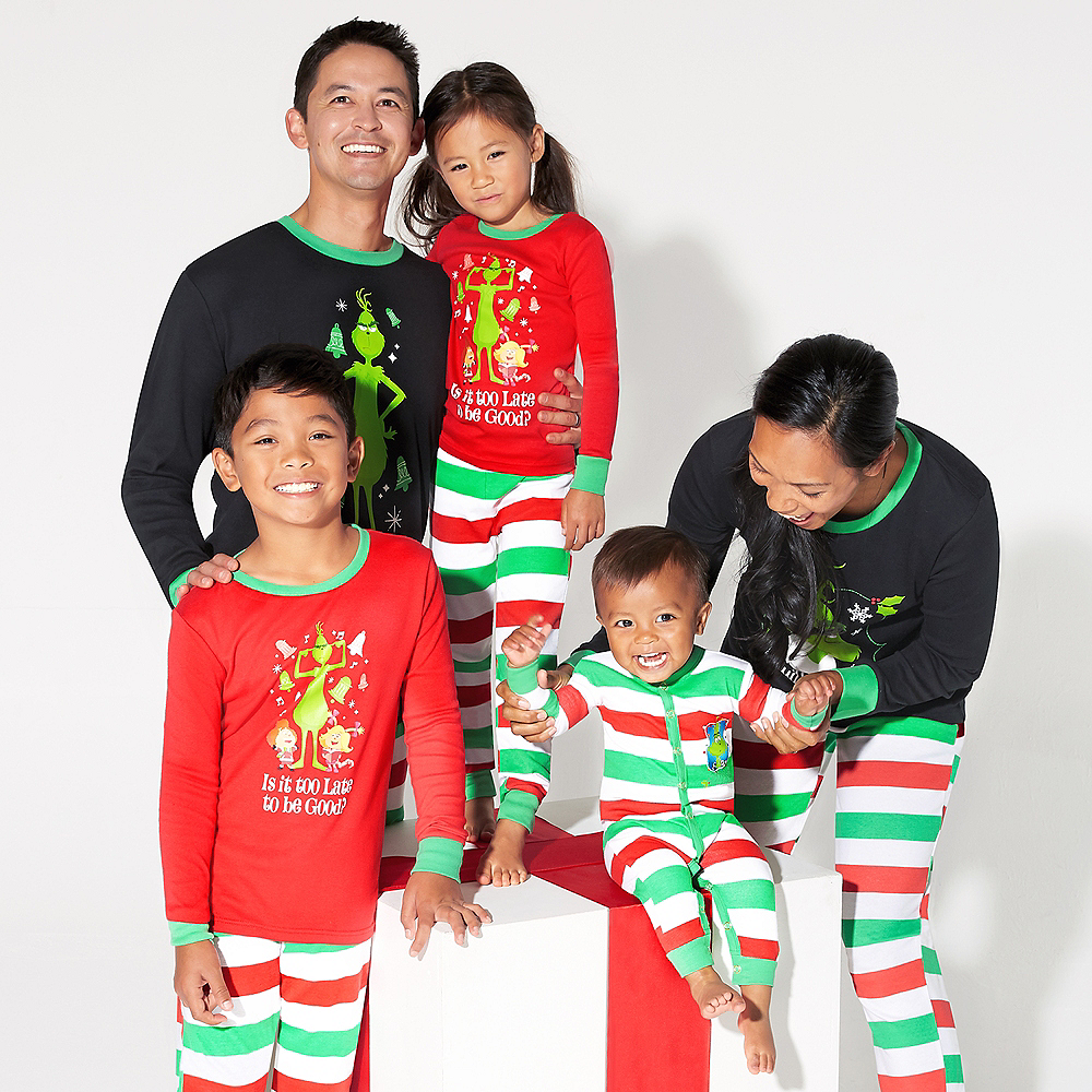 Adult Not a Christmas Morning Person Grinch Pajamas Image #2