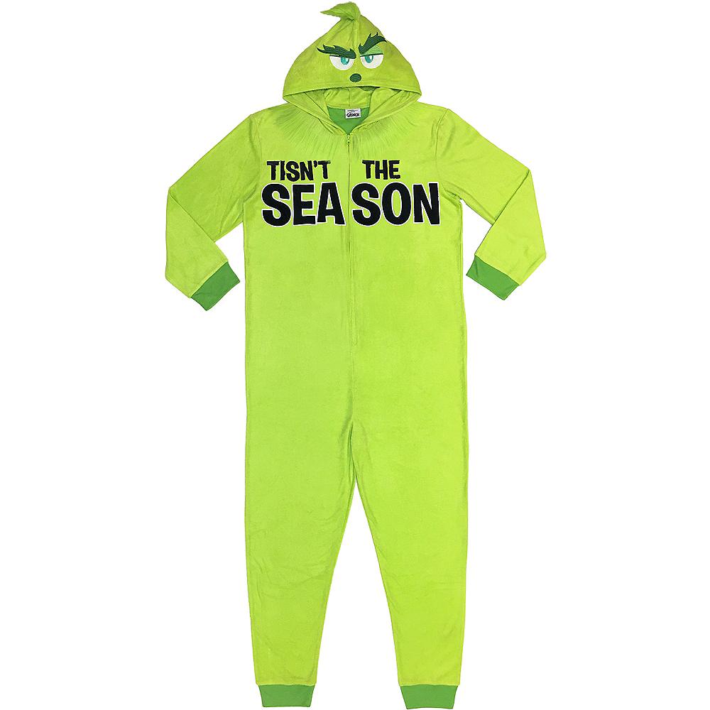 Zipster Tisn't the Season Grinch One Piece Pajamas Image #1