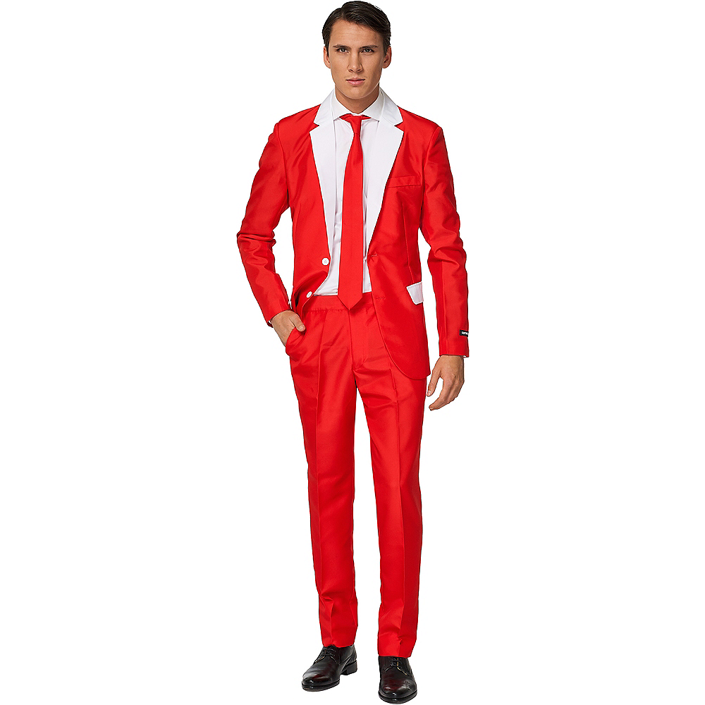 Adult Red & White Suit Image #1