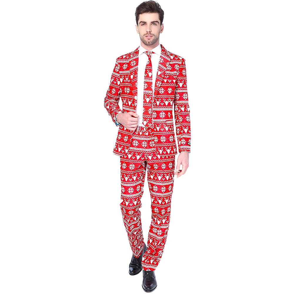 Christmas Suit.Adult Nordic Christmas Suit