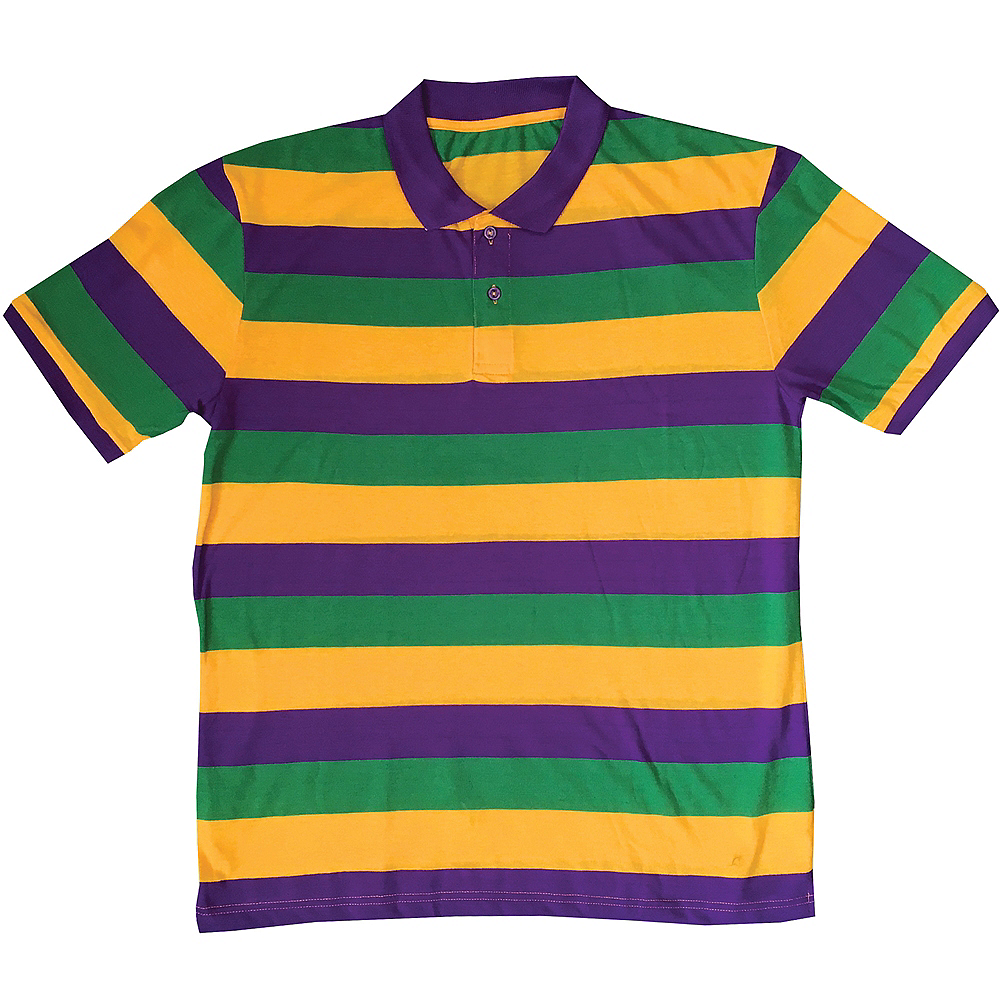 29aee111bbc Adult Gold, Green & Purple Short-Sleeve Rugby Shirt | Party City
