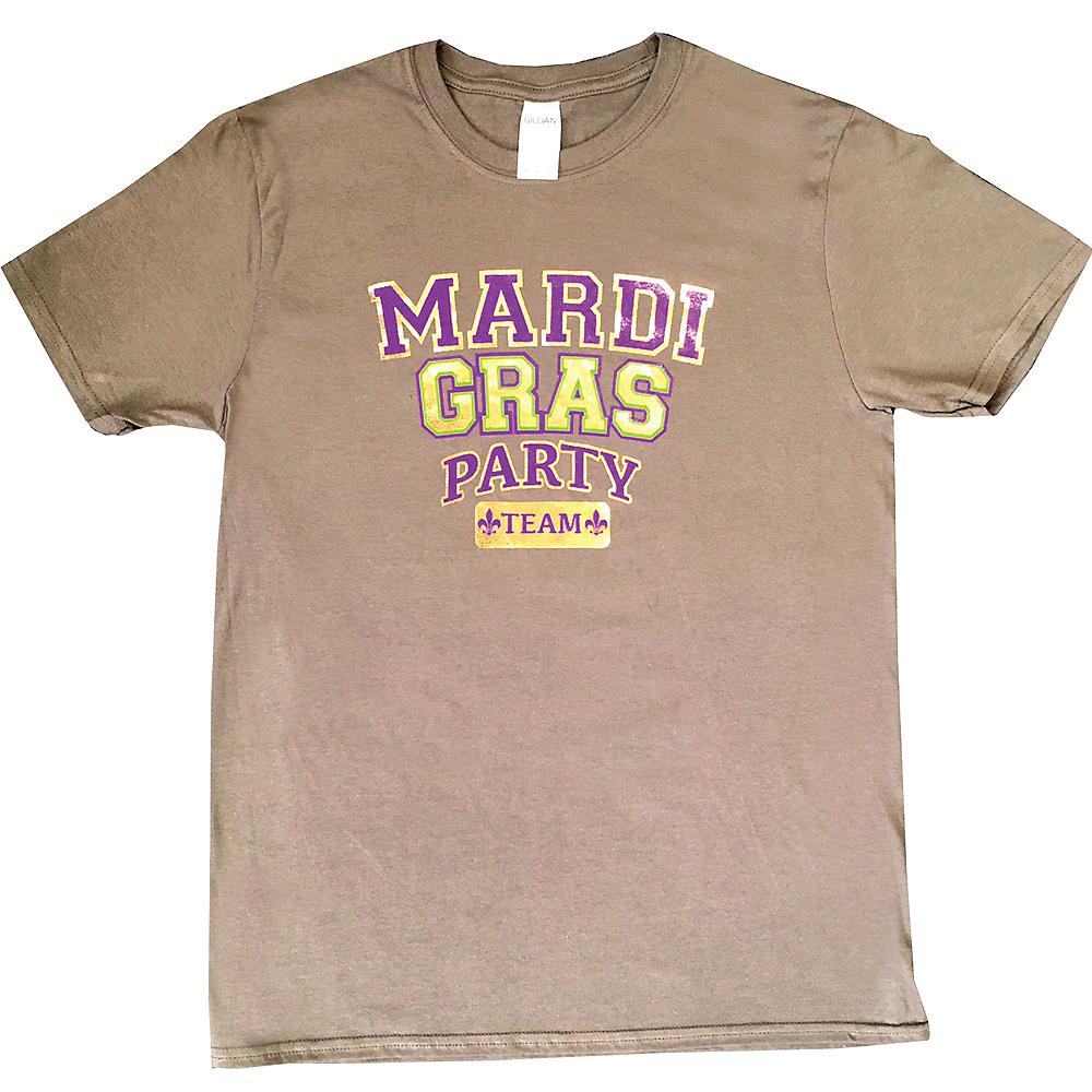 Adult Mardi Gras Party Team T-Shirt Image #1