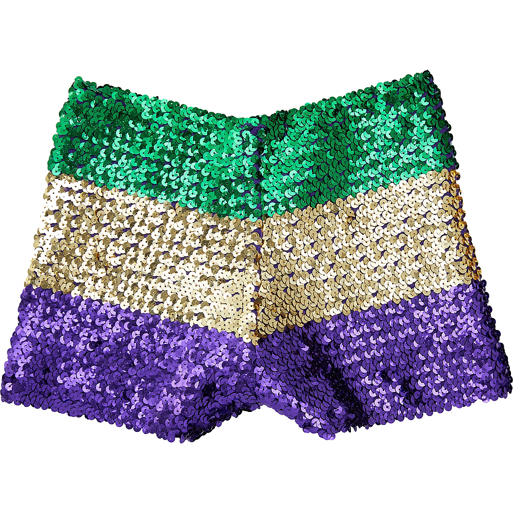 Nav Item for Womens Gold, Green & Purple Sequin Boyshorts Image #1