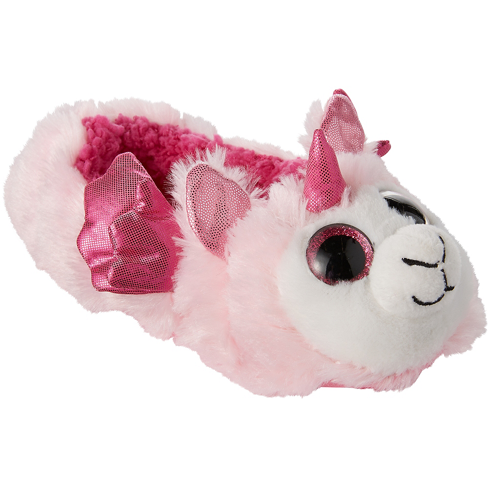 Child Pink Llamacorn Slipper Shoes Image #2