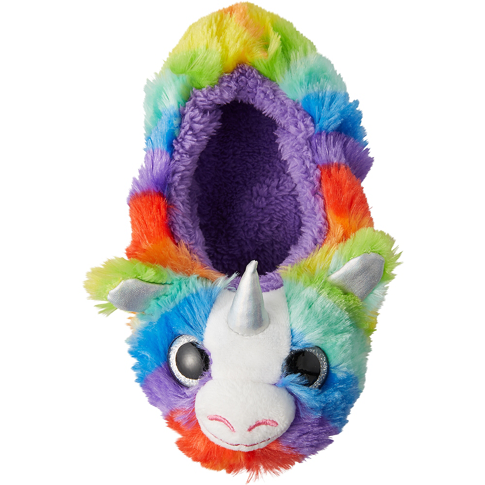 Child Rainbow Unicorn Slipper Shoes Image #1