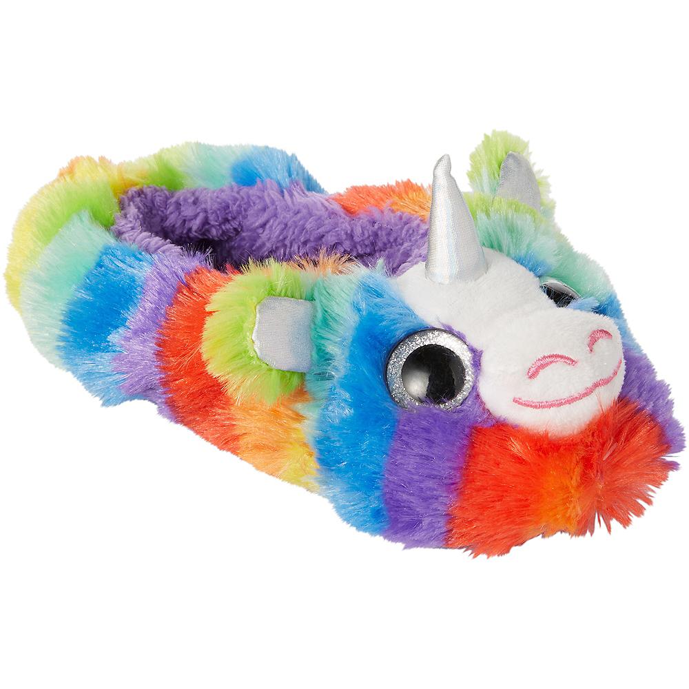 Child Rainbow Unicorn Slipper Shoes Image #3