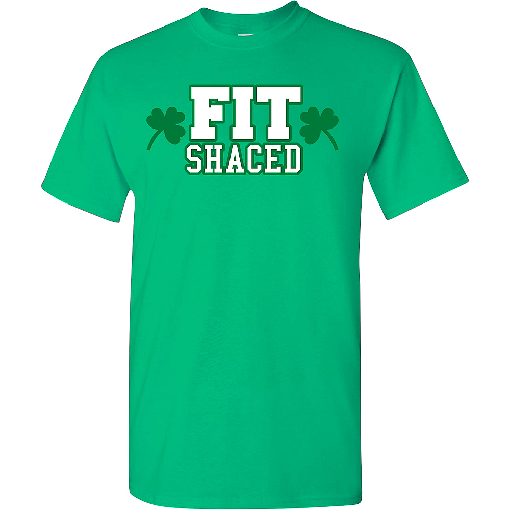 Adult Fit Shaced St. Patrick's Day T-Shirt Image #1