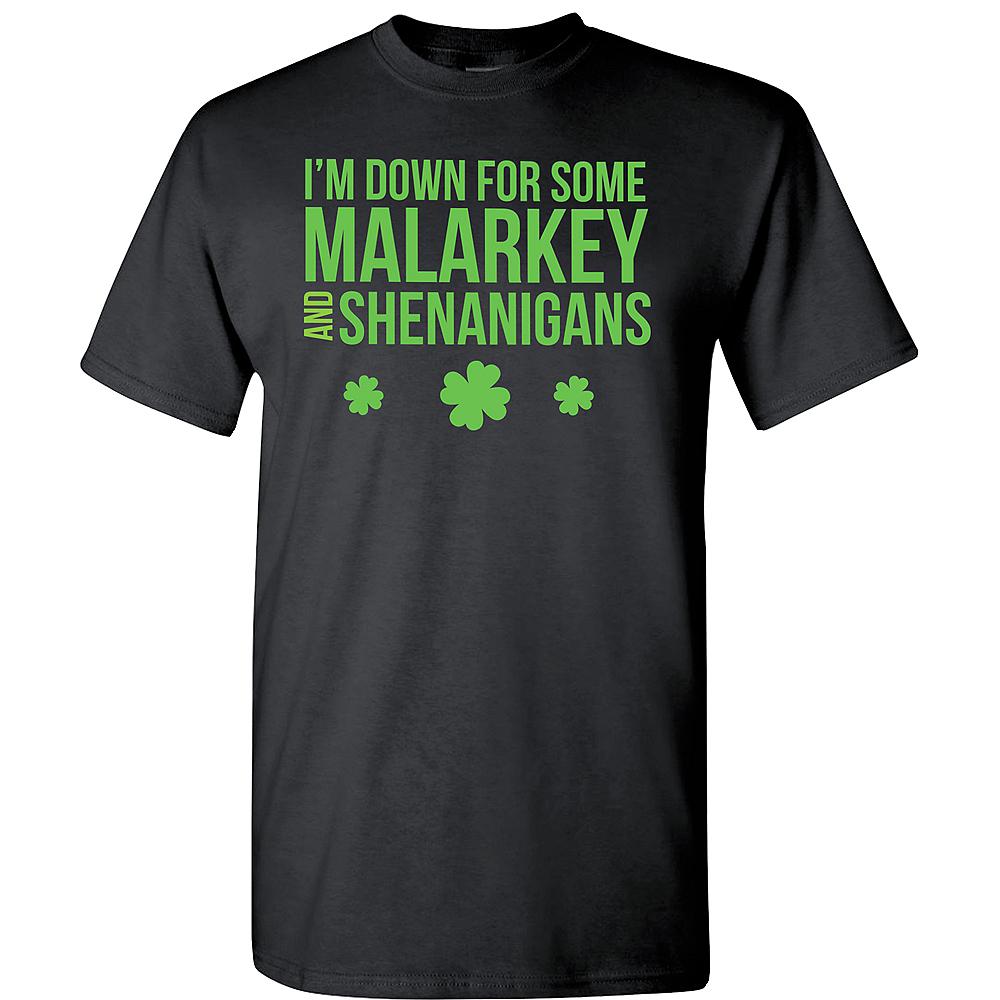 Adult Malarkey & Shenanigans St. Patrick's Day T-Shirt Image #1