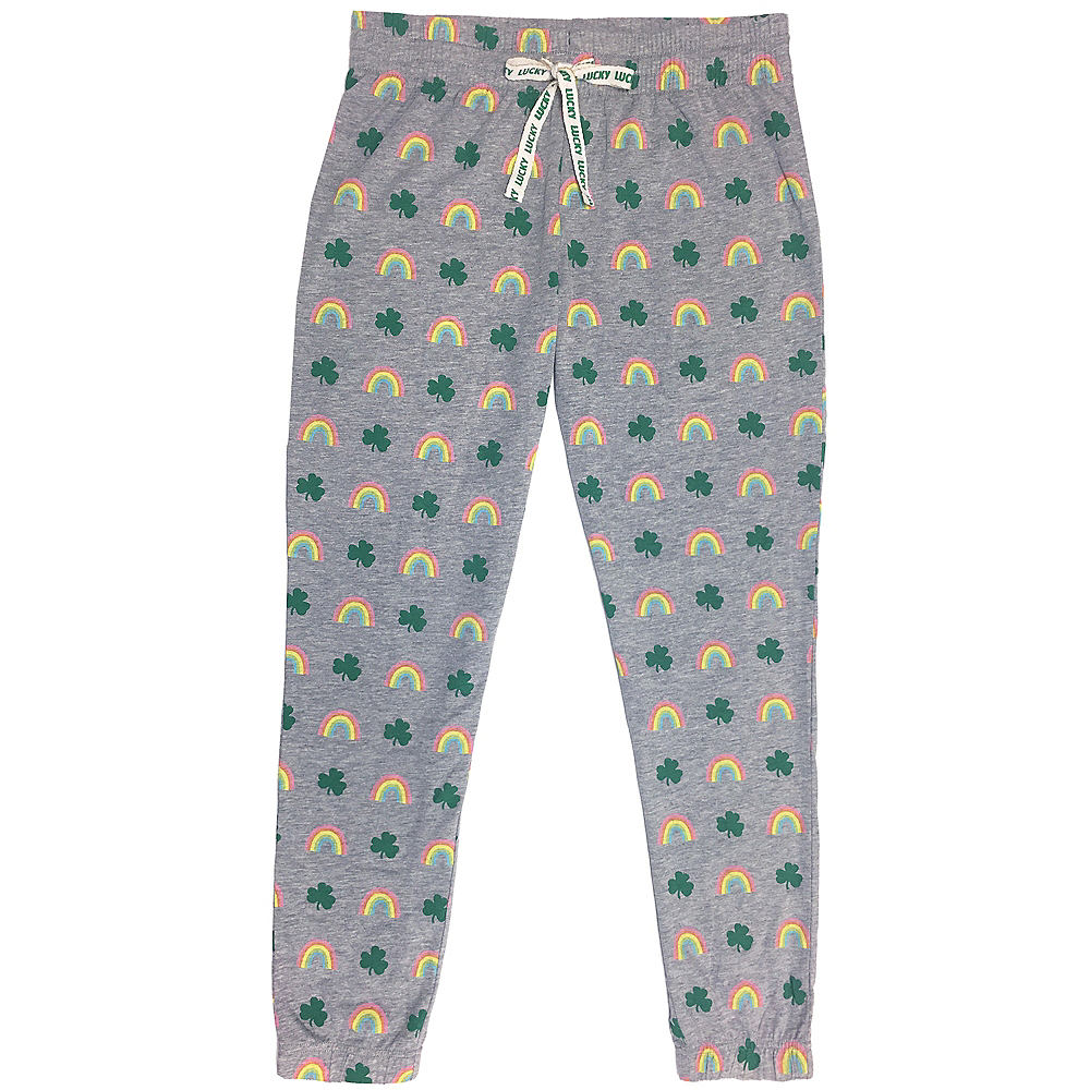 Adult Rainbow & Clover Pants Image #1