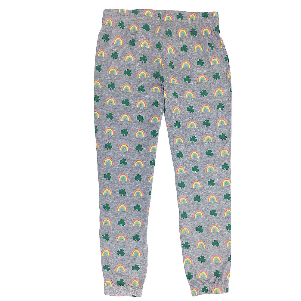 Adult Rainbow & Clover Pants Image #2