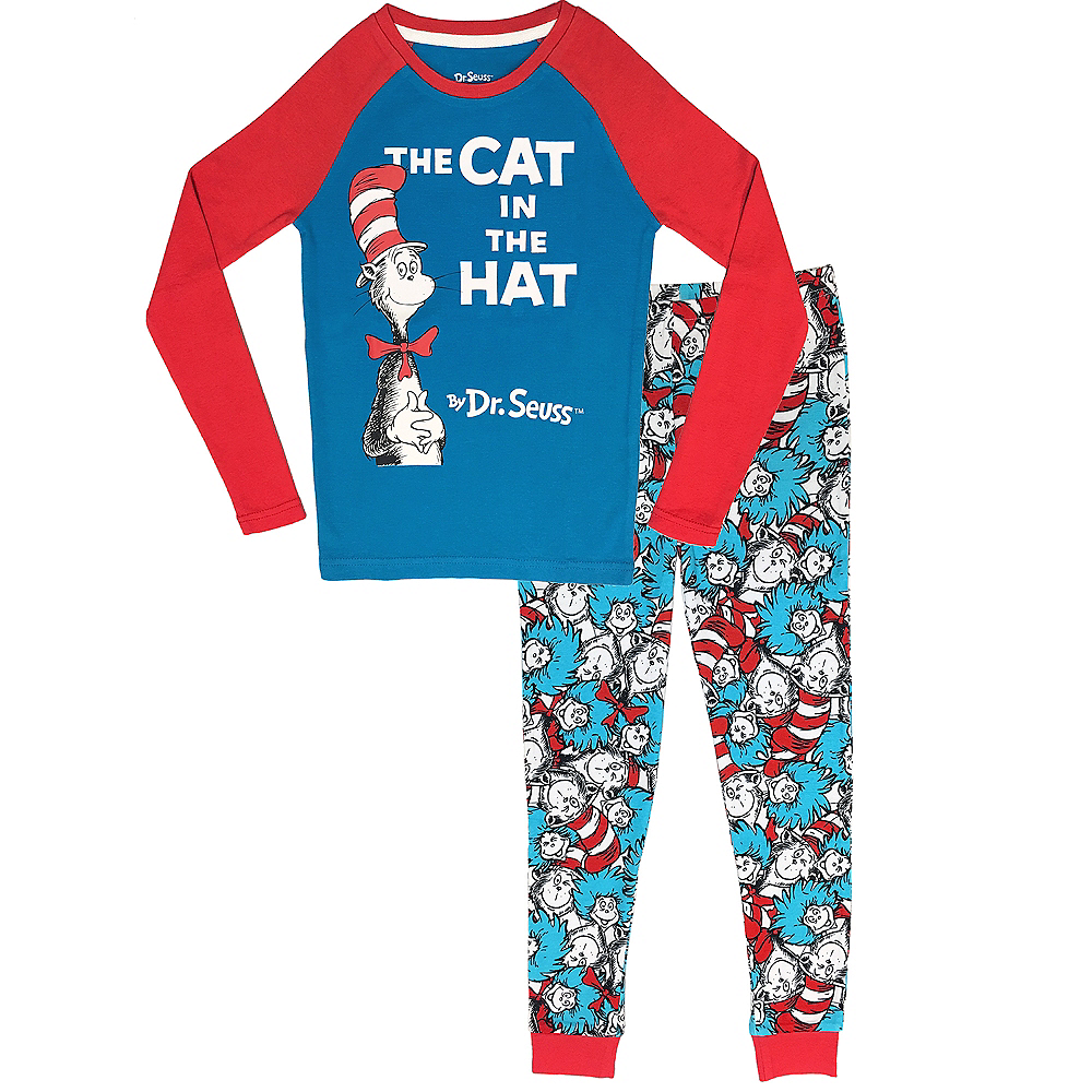 fb3b995f Nav Item for Child Cat in the Hat Pajamas - Dr. Seuss Image #1 ...