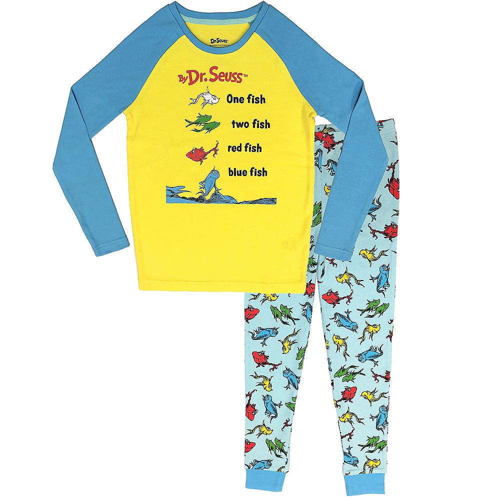 Child One Fish Two Fish Red Fish Blue Fish Pajamas - Dr. Seuss Image #1