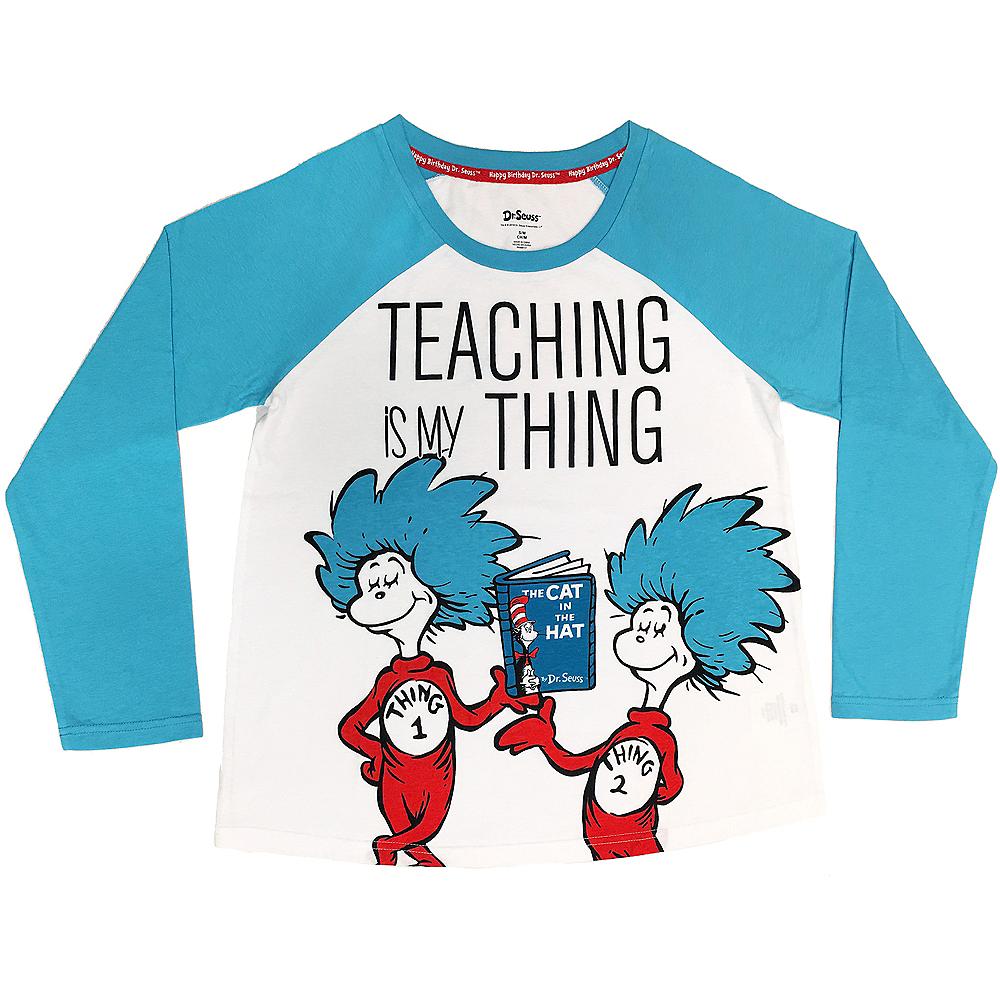 Adult Teaching Thing 1 & Thing 2 Long-Sleeve Shirt - Dr. Seuss Image #1
