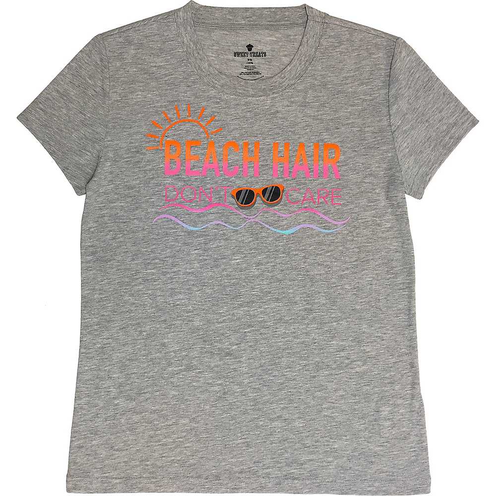 Adult Beach Hair Don't Care T-Shirt Image #1