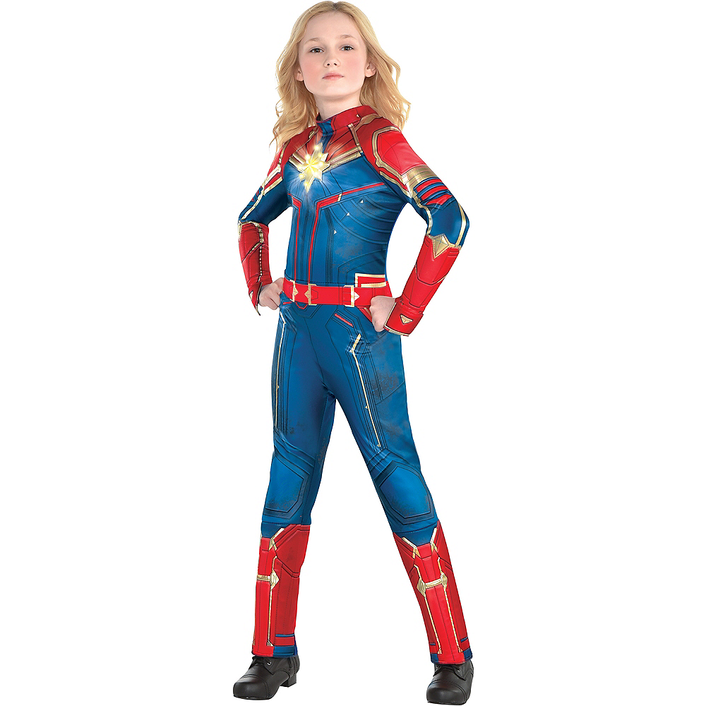 Child Light-Up Captain Marvel Costume - Captain Marvel Image #1