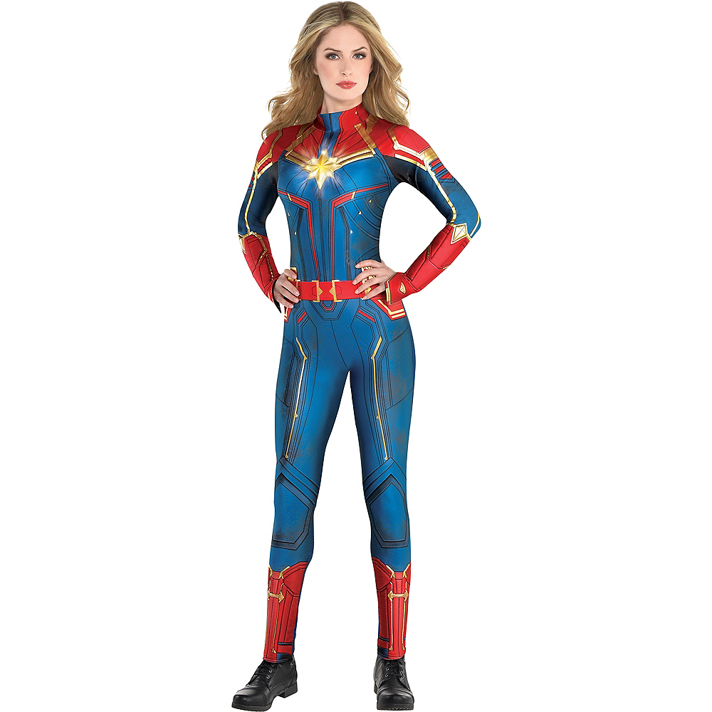 Adult Light-Up Captain Marvel Costume - Captain Marvel Image #1