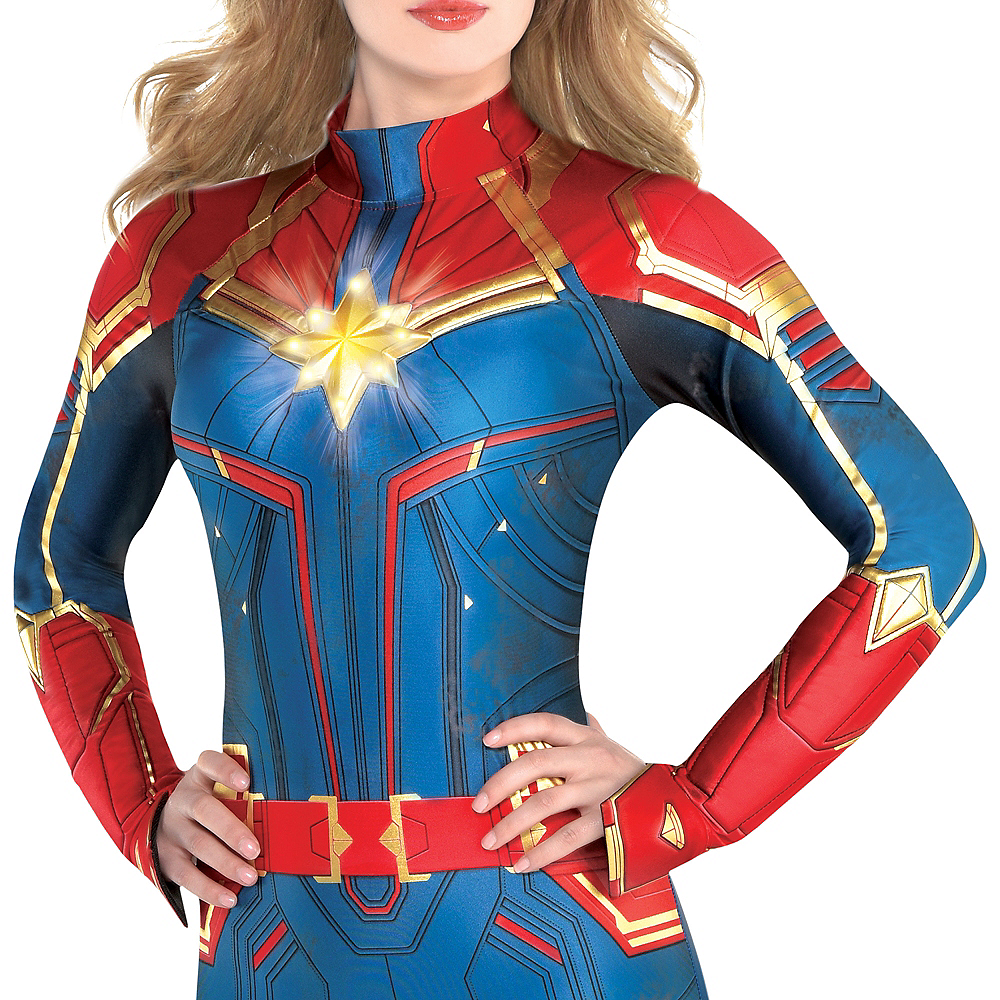 Adult Light-Up Captain Marvel Costume - Captain Marvel Image #2