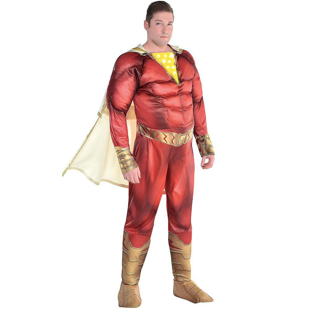 Adult Light-Up Shazam Muscle Costume Plus Size Image #1