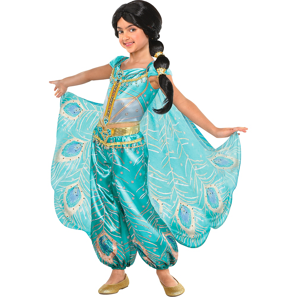 Child Jasmine Whole New World Costume - Aladdin Image #1