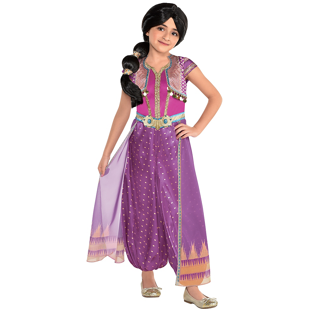 Child Purple Jasmine Costume - Aladdin Live-Action Image #1
