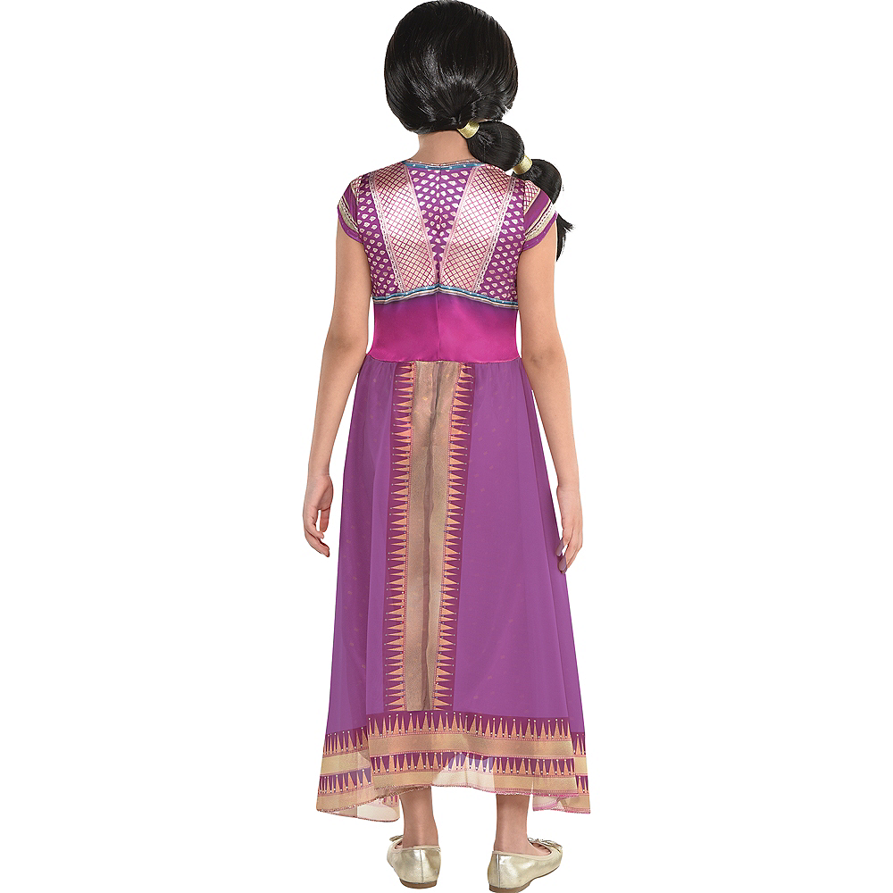 Child Purple Jasmine Costume - Aladdin Live-Action Image #2