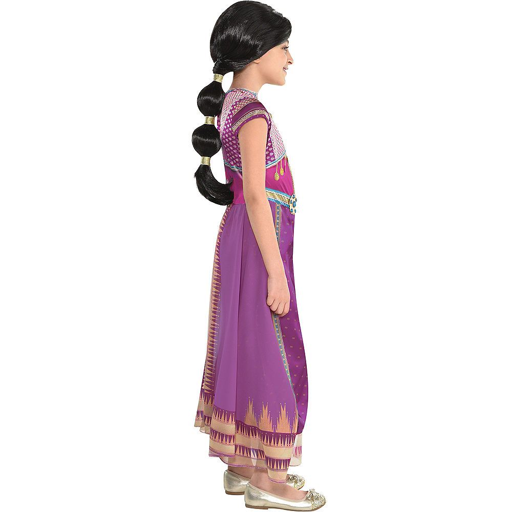 Child Purple Jasmine Costume - Aladdin Live-Action Image #3