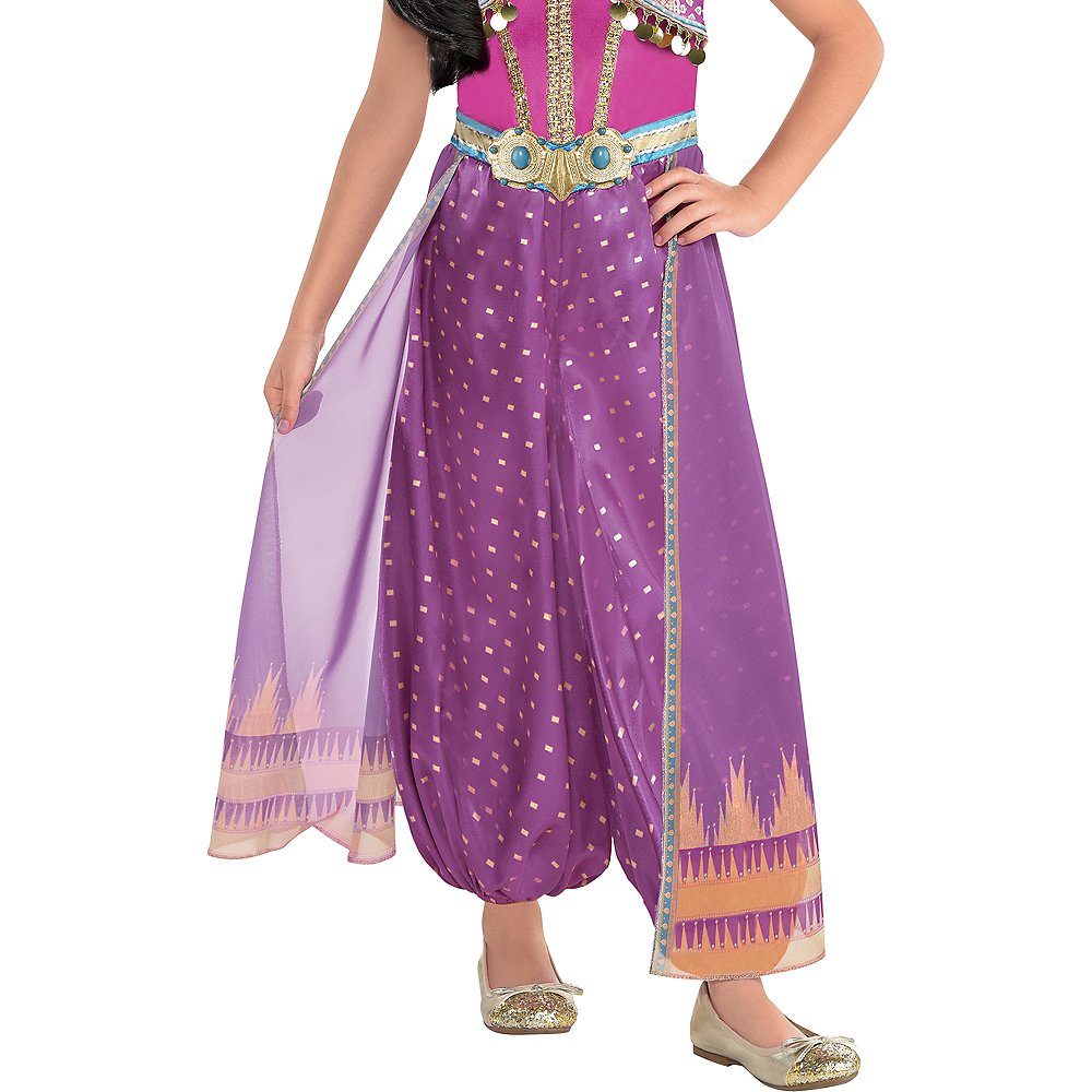 Child Purple Jasmine Costume - Aladdin Live-Action Image #5