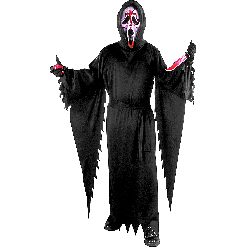 Adult Bleeding Ghost Face Costume - Scream Image #1