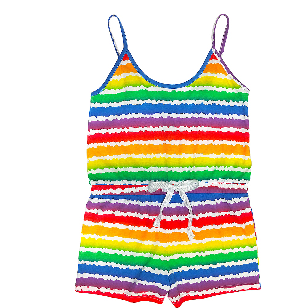 Adult Rainbow Striped Romper