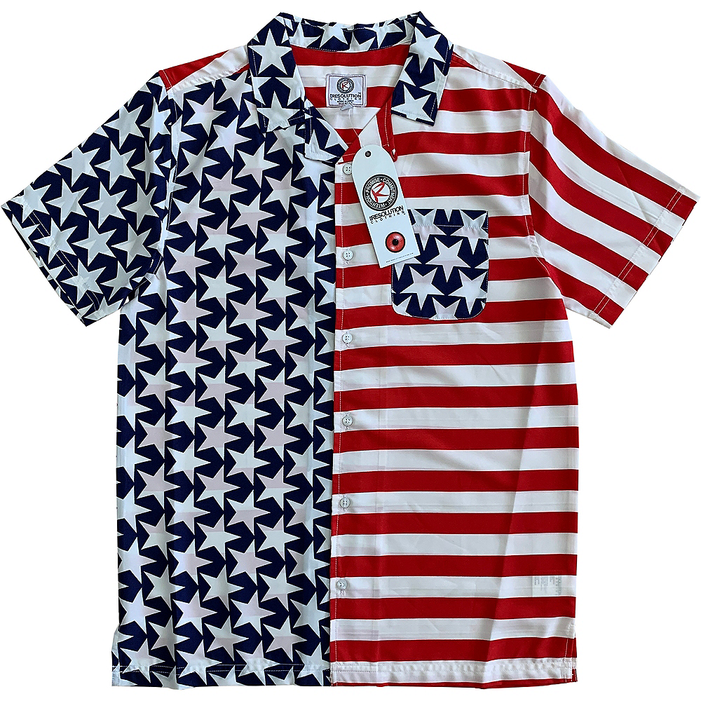 Nav Item for Patriotic American Flag Hawaiian Shirt Image #1