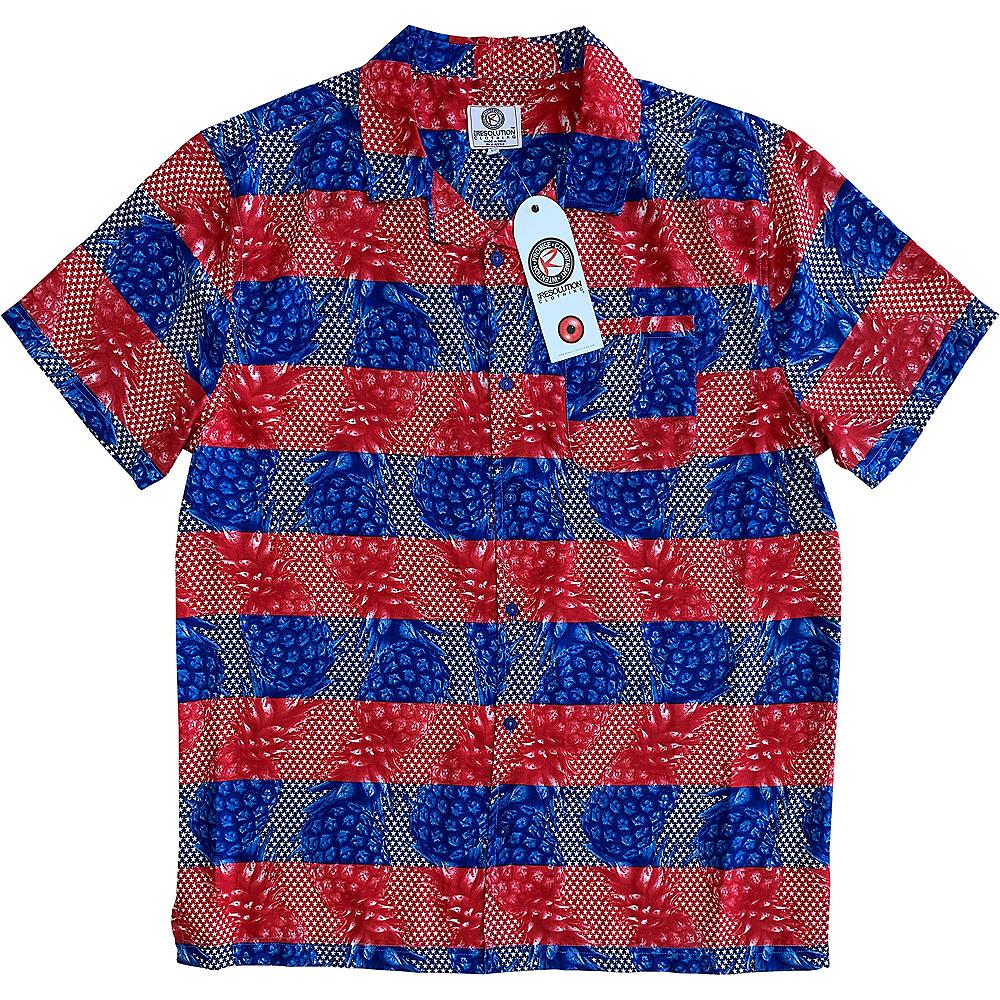 Red, White & Blue Pineapple Hawaiian Shirt Image #1