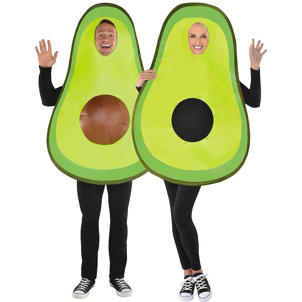 Adult Avocado Costume with Removable Pit Image #1