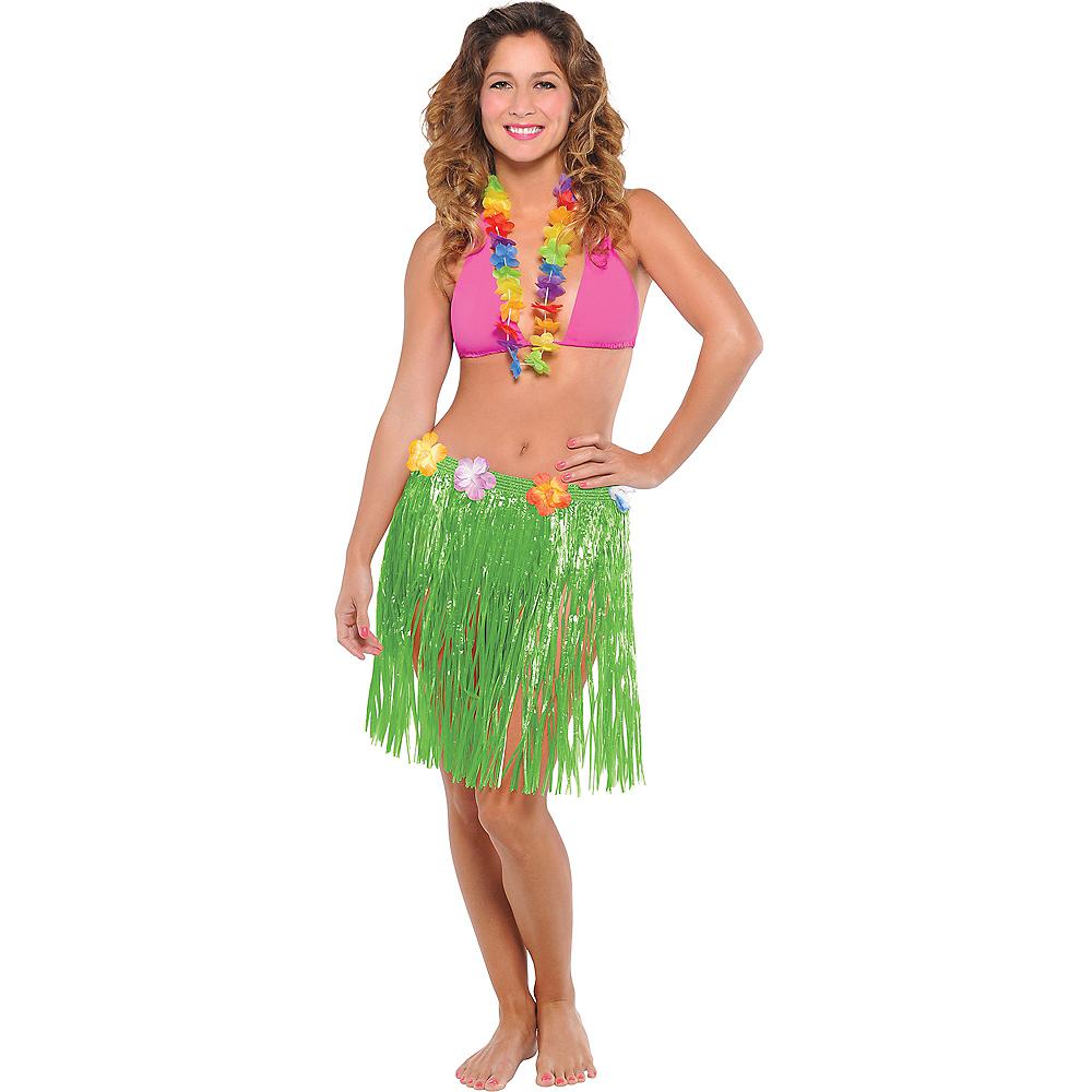 Green Tinsel Hula Skirt Image #1