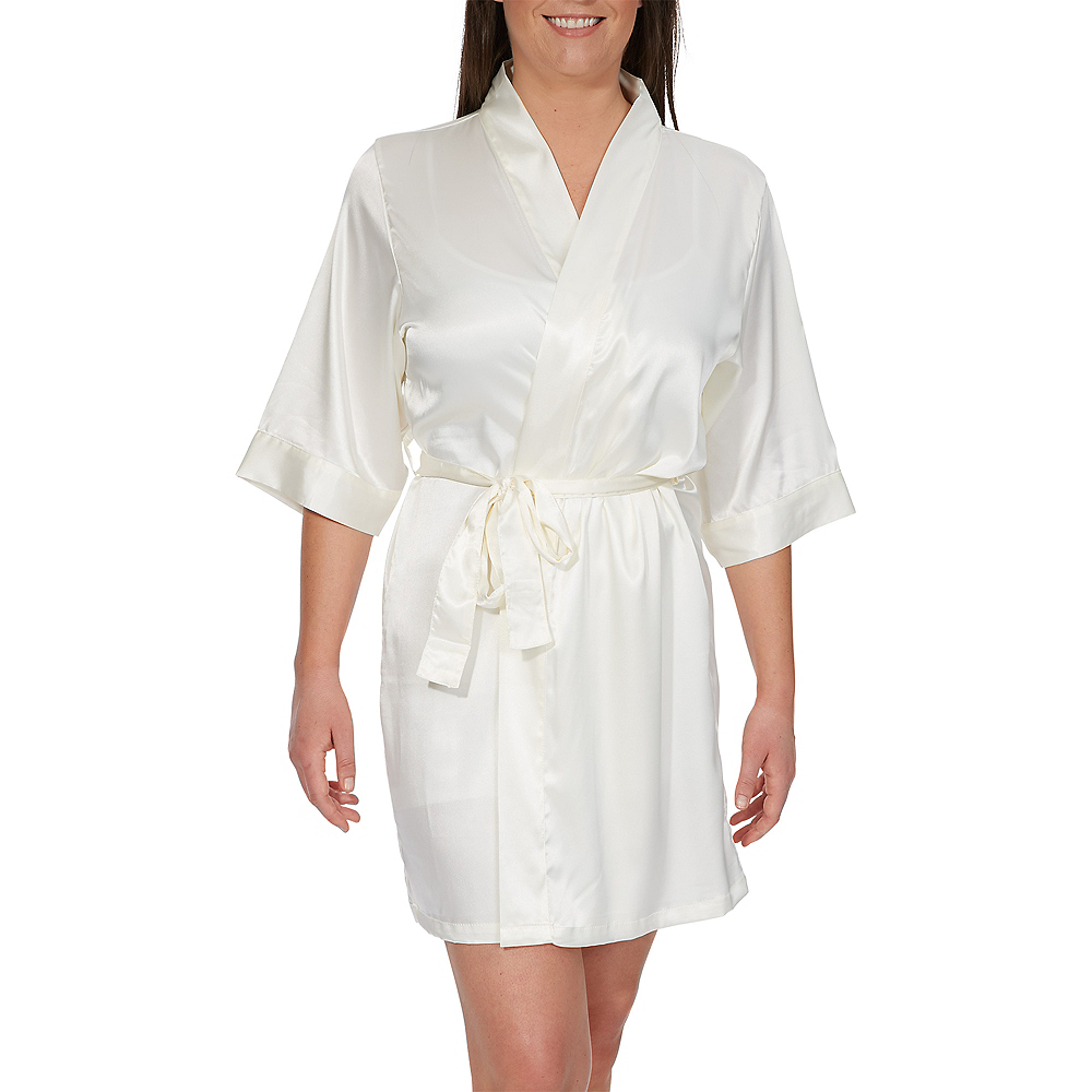 Ivory Maid of Honor Robe Image #1